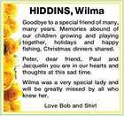 HIDDINS, Wilma