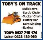 TOBY'S ON TRACK