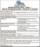 PUBLIC NOTICE WATER RESTRICTIONS