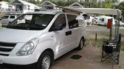 HYUNDAI 2014 5 spd man, 68,900 kls, new car wty until Sept 19, prof fitout, dble bed, solar panel...