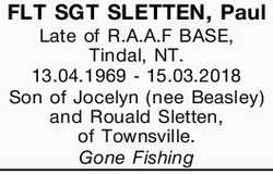 FLT SGT SLETTEN, Paul