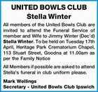 UNITED BOWLS CLUB