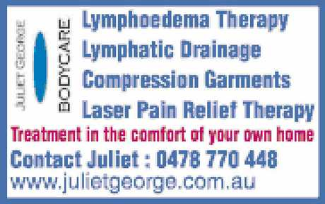 <p> Lymphatic Drainage<br /> Compression Garments<br /> Laser Pain Relief Therapy</p>