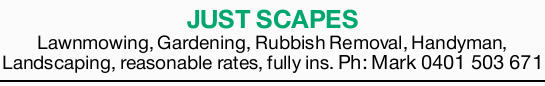 Lawnmowing  Gardening  Rubbish Removal  Handyman  Landscaping  Reaso...