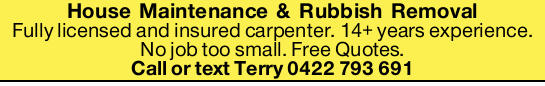 Fully licensed and insured carpenter. 14+ years experience. No job too small. Free Quotes.  ...