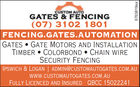 CUSTOM AUTO GATES & FENCING