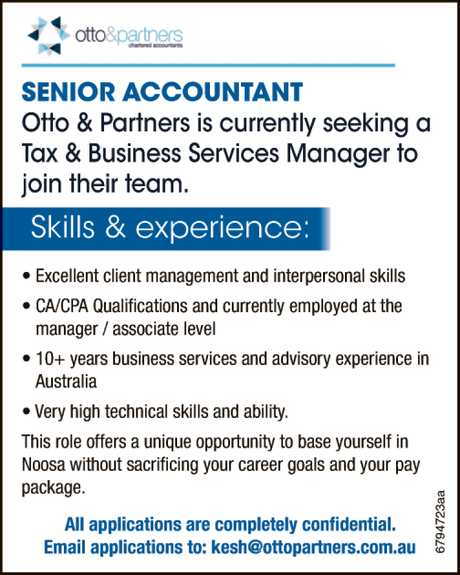 <p> Otto & Partners is currently seeking a Tax & Business Services Manager to join their...