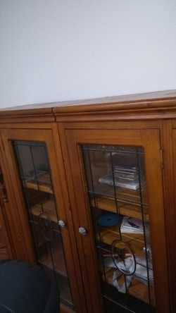 Solid Stained Glass Cabinet