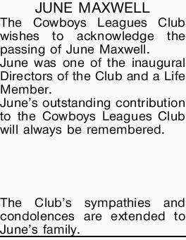 JUNE MAXWELL