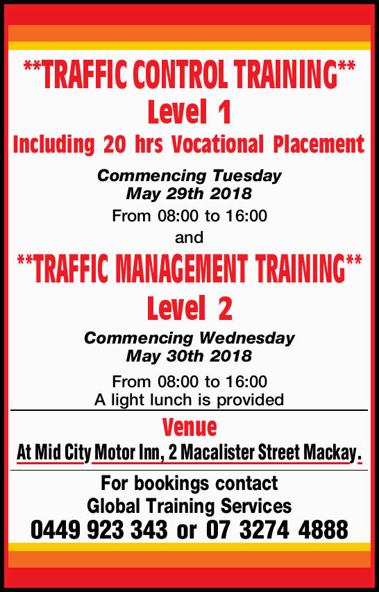 **TRAFFIC CONTROL TRAINING**