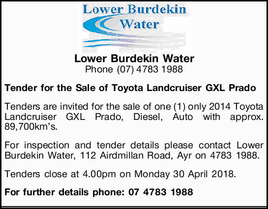 Lower Burdekin Water 