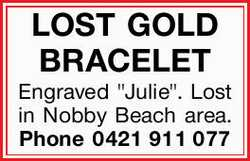 LOST GOLD BRACELET 