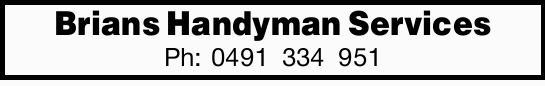 Brians Handyman Services