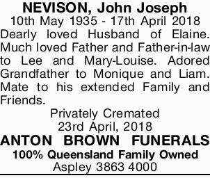 NEVISON, John Joseph