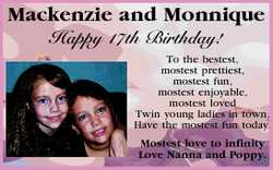 Mackenzie and Monnique