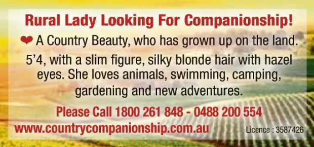 Rural Lady Looking For Companionship! A Country Beauty, who has grown up on the land. 5'4, wi...