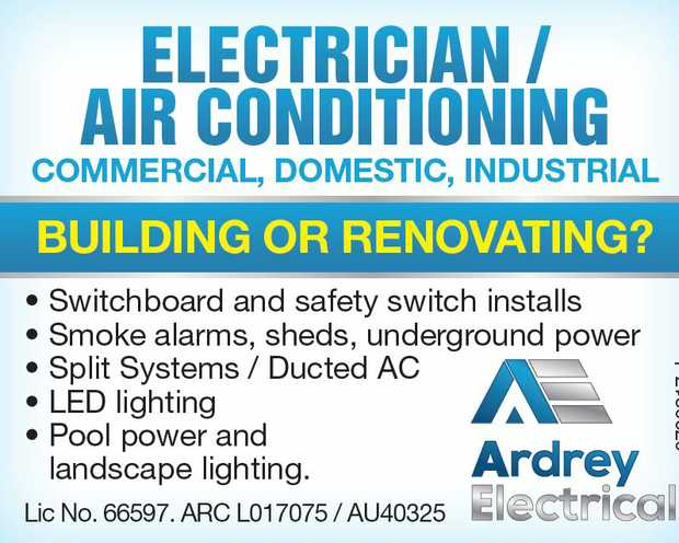 ARDREY ELECTRICAL   Building or renovating?   • Switchboard and safety switch instal...