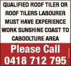 QUALIFIED ROOF TILER OR ROOF TILERS LABOURER