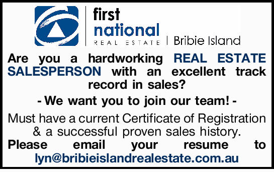 Are you a hardworking REAL ESTATE SALESPERSON with an excellent track record in sales?