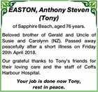 EASTON, Anthony Steven (Tony)