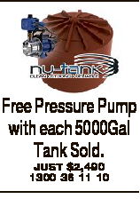 Free Pressure Pump with each 5000Gal Tank Sold.