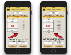 Livestock Auction Calculator An app available for all smartphones and tablets for quickly calculatin...