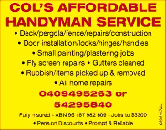 Deck / Pergola / Fence / Repairs / Consatruction  Door Installation / Locks / Hing...