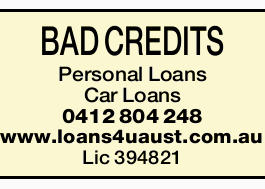 <p> <strong>BAD CREDITS</strong> </p> <ul> <li>