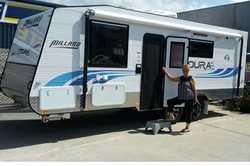 MILLARD 21ft white tourer caravan, 3 1/2 mths old, paid $63,000, due to ill health will accept an...
