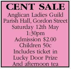 Anglican Ladies Guild Parish Hall, Gordon Street Saturday 12th May 1:30pm Admission $2.00 Childre...