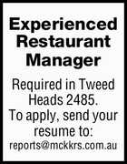 Experienced Restaurant Manager