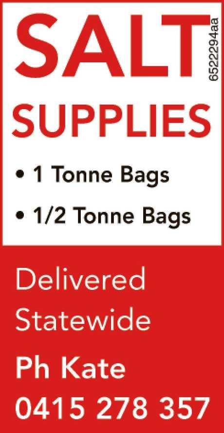 <p> <strong>SALT SUPPLIES</strong> </p> <ul> <li> 1 Tonne Bags</li> <li> 1/2 Tonne...</li></ul>