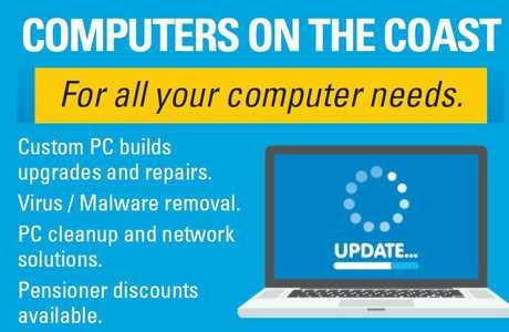 """<p align=""""LEFT"""" dir=""""LTR""""> <span lang=""""EN-AU"""">COMPUTERS ON THE COAST</span> </p>"""