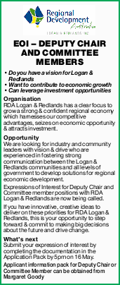 Do you have a vision for Logan & Redlands   Want to contribute to economic growth ...