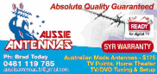 Australian Made Antennas - $175   Absolute Quality Guarantee   Home Theatre & TV/DVD...