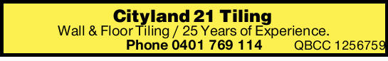 25 Years of Experience.  QBCC 1256759