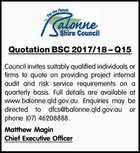 Quotation BSC 2017/18 – Q15