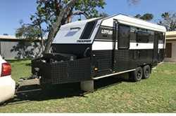LOTUS TROOPER OFFroad Caravan Equipped for bush camping, 345Lt. Water, 3x150W Solar Panels, 3 Bat...