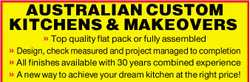 AUSTRALIAN CUSTOM KITCHENS & MAKEOVERS 