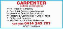 CARPENTER   All Types of Carpentry   Repairs & Property Maintenance   Inter...