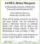 JAMES, Helen Margaret