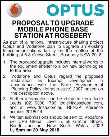 <p> <strong>PROPOSAL TO UPGRADE MOBILE PHONE BASE STATION AT ROSEBERY</strong> </p> <p>