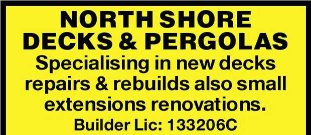 NORTH SHORE DECKS & PERGOLAS