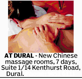 AT DURAL - New Chinese massage rooms, 7 days, Suite 1/14 Kenthurst Road, Dural. Phone: