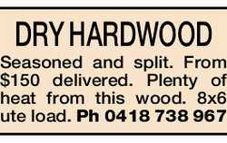 DRY HARDWOOD   Seasoned and split.   From $150 delivered.   Plenty of heat from this...