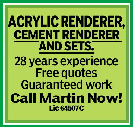28 years experience   Free quotes   Guaranteed work   Call Martin   Lic 64507C ...