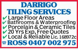 DARRIGO TILING SERVICES Large Floor Areas Bathrooms & Waterproofing Porcelain & Ceramic T...