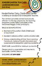 KINDERGARTEN TEACHER (full-time)