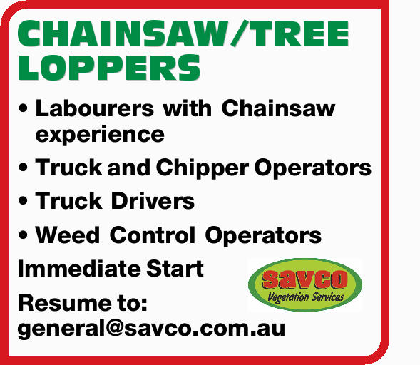 CHAINSAW/TREE LOPPERS