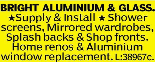 BRIGHT ALUMINIUM & GLASS.    Supply & Install Shower screens,   Mirrored wardrobe...
